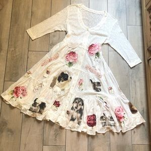 Dresses & Skirts - Lace puppy, kitten, rose patchwork babydoll